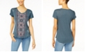 Style & Co Petite Graphic-Print Shirttail T-Shirt, Created for Macy's