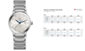 Rado Women's Swiss Centrix Diamond-Accent Automatic Stainless Steel Bracelet Watch 28mm