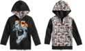 Epic Threads Reversible Dino-Print Hooded Jacket, Little Boys, Created for Macy's