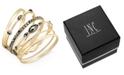 INC International Concepts I.N.C. Gold-Tone 6-Pc. Set Hematite Stone Bangle Bracelets, Created for Macy's