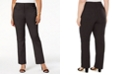 JM Collection Plus & Petite Plus Size Tummy Control Curvy-Fit Pants, Created for Macy's