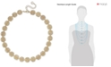 "Charter Club Gold-Tone Crystal Openwork Beaded Collar Necklace, 18"" + 2"" extender, Created for Macy's"