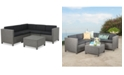 Noble House Chelsea 6-Pc. Outdoor Sectional Sofa Set