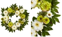 Nearly Natural 24'' Peony & Mum Wreath
