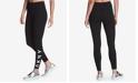 DKNY Sport High-Rise Logo Workout Full Length Leggings