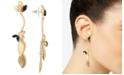 RACHEL Rachel Roy Gold-Tone Crystal & Petal Linear Drop Earrings