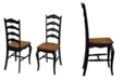 Home Styles The French Countryside Oak and Rubbed Black Dining Chair, Pair