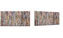 """Ready2HangArt 'Birch Forest' Abstract Canvas Wall Art Set,18x36"""""""