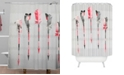 Deny Designs Iveta Abolina Teal Feathers Shower Curtain
