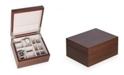 Bey-Berk 4 Watch and 6 Cufflink Storage Box