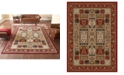 KM Home Kenneth Mink Area Rug Set, Roma Collection 3 Piece Set Panel Red