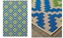 """Oriental Weavers Cayman 2063Z Sand/Blue 9'10"""" x 12'10"""" Indoor/Outdoor Area Rug"""