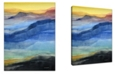 Ready2HangArt 'Colorful Mountains' Canvas Wall Art, 30x20""