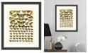 "Melissa Van Hise Butterfly Charts III Framed Giclee Wall Art - 15"" x 18"" x 2"""