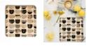 Deny Designs Pretty Coffee Cups 3 Square Cutting Board