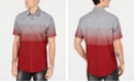 INC International Concepts INC Men's Zeddie Ombré Stripe Short-Sleeve Shirt, Created for Macy's
