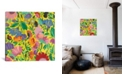 """iCanvas """"Mexican Garden"""" By Kim Parker Gallery-Wrapped Canvas Print - 18"""" x 18"""" x 0.75"""""""