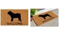 """Home & More Bull Dog 24"""" x 36"""" Coir/Vinyl Doormat"""
