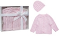 3 Stories Trading Cable Knit Baby Cardigan with Beanie
