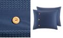 JLA Home Madison Park Finley Full/Queen 3 Piece Cotton Waffle Weave Comforter Set