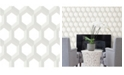 "Brewster Home Fashions Hex Geometric Wallpaper - 396"" x 20.5"" x 0.025"""
