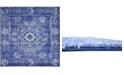 """Bridgeport Home Wisdom Wis3 Royal Blue 8' 4"""" x 8' 4"""" Square Area Rug"""