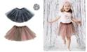 Mi Amore Gigi One Size Girls Animal Print Tutu Set and Matching Accessory