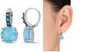 Macy's Blue Topaz (15-1/4 ct.t.w.) Drop Earrings in Sterling Silver