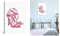 """iCanvas Pink Shoes by Amanda Greenwood Gallery-Wrapped Canvas Print - 40"""" x 26"""" x 0.75"""""""