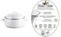 Golden Rabbit Solid White Enamelware Collection 4 Quart Dutch Oven