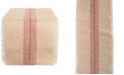 "Design Imports Barn Middle Stripe Burlap Table Runner 14"" x 72"""
