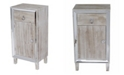 Heather Ann Creations Heather Ann Avery Mirrored Accent Cabinet with Drawer