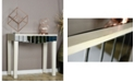 Heather Ann Creations Heather Ann Catherine Mirrored Console Table with Drawer