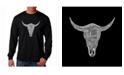 LA Pop Art Men's Word Art Long Sleeve T-Shirt - Cowskull Country Hits