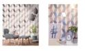"Advantage 20.5"" x 369"" Rochelle Geometric Wallpaper"