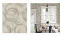 "Advantage 20"" x 369"" Yorick Distressed Circle Wallpaper"