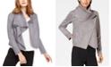 Anne Klein Faux-Suede Asymmetrical Jacket