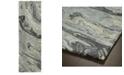 """Kaleen Marble MBL01-68 Graphite 2'6"""" x 8' Runner Rug"""