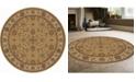 "KM Home CLOSEOUT! 1592/1075/BEIGE Pesaro Beige 5'3"" x 5'3"" Round Area Rug"
