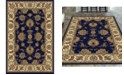 """KM Home CLOSEOUT! 1330/1241/NAVY Navelli Blue 5'5"""" x 8'3"""" Area Rug"""