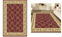 """KM Home CLOSEOUT! 1427/1730/BURGUNDY Navelli Red 3'3"""" x 5'4"""" Area Rug"""