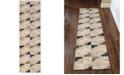 "KM Home CLOSEOUT! 3793/1003/BONE Imperia Ivory/ Cream 2'2"" x 7'7"" Runner Rug"