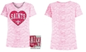 5th & Ocean Big Girls New Orleans Saints Heart Flip Sequin T-Shirt