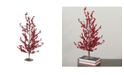 """Northlight 23.5"""" Festive Red Berries Artificial Decorative Christmas Tree"""
