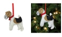 "Northlight 5"" Cream Black and Brown Dog Plush Christmas Ornament"