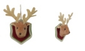 """Northlight 7.5"""" Brown and Cream Stuffed Deer Head Plaque Christmas Ornament"""