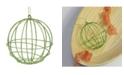 "Northlight 4.25"" Glittered Green Geometric Round Ball Christmas Ornament"
