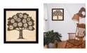 "Trendy Decor 4U Family Attributes I By Deb Strain, Printed Wall Art, Ready to hang, Black Frame, 14"" x 14"""