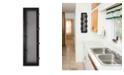 "Trendy Decor 4U 7-Peg Mug Rack by Millwork Engineering, Black Frame, 7"" x 26"""