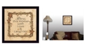 """Trendy Decor 4U Bless this Home By Linda Spivey, Printed Wall Art, Ready to hang, Black Frame, 14"""" x 14"""""""
